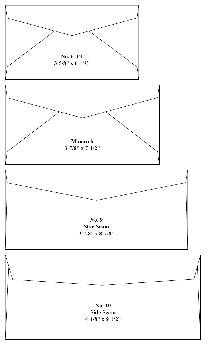 Choosing the right envelope for Letter size envelope measurements